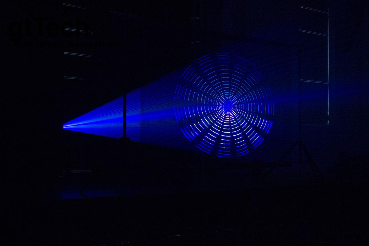 Laserscrim schwarz-metallic Bühnenstoff Licht