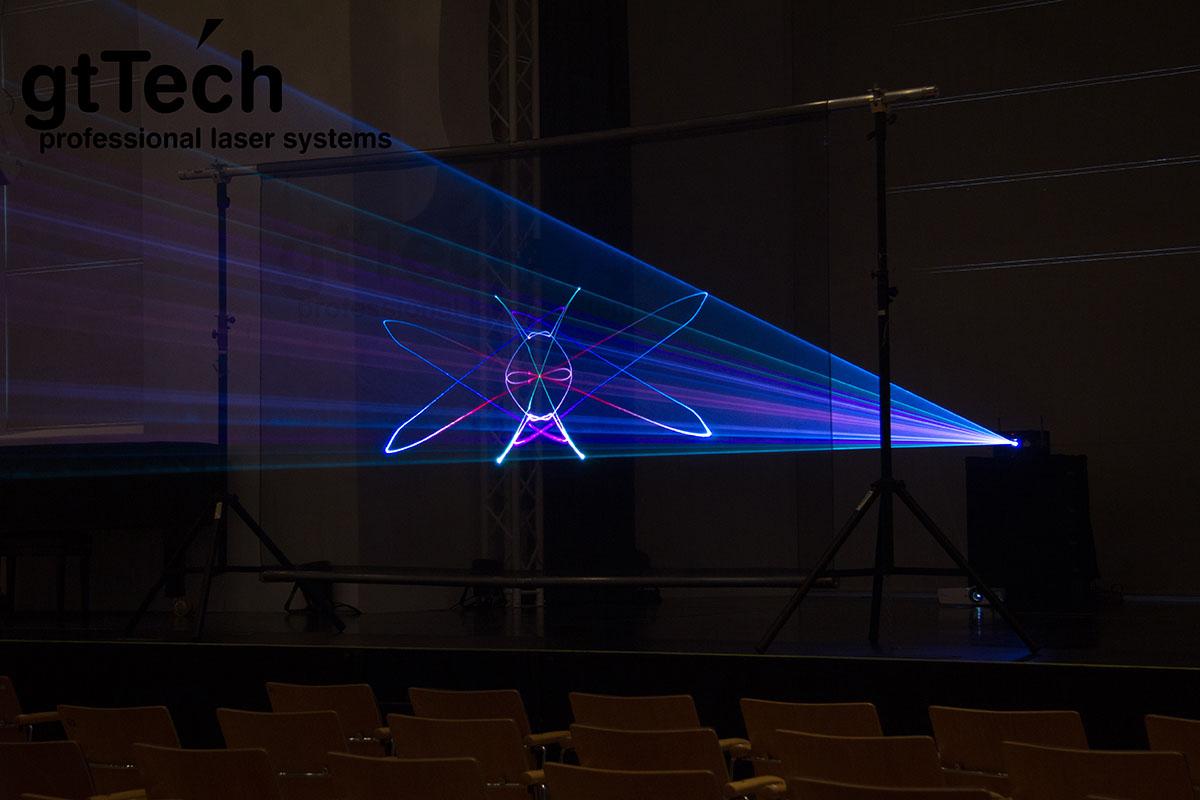Lasergaze weiß Laserstrahlen