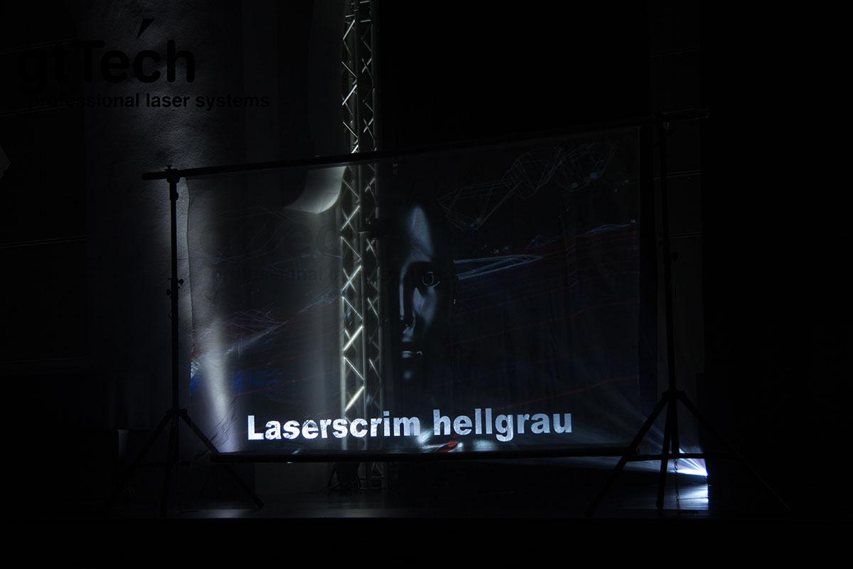 Laserscrim hellgrau transparenter Bühnenstoff