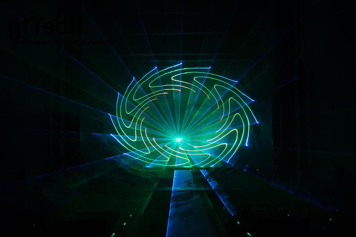 Laserscrim hellgrau Laserstrahlen